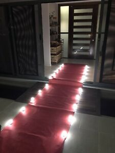 """Hollywood style red """"carpet"""" incl lights"""