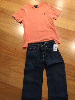 RALPH LAUREN boys pants and top size 8