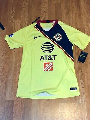 fd25406cc Nike Mens Club America 2018/19 Home Jersey Yellow/Navy Size S NWT 100%  Authentic