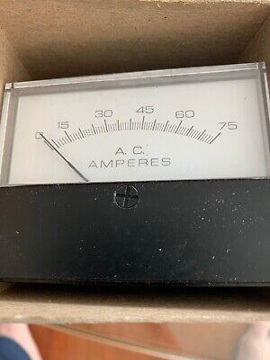 Hoyt 0-75 A.c. Ac Amperes D-115356y86 3126 C-7679 Gauge Panel Meter Ammeter
