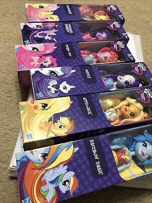 My Little Pony Equestria Girls Dolls Pinkie Pie Rainbow Dash Complete Set Of 6