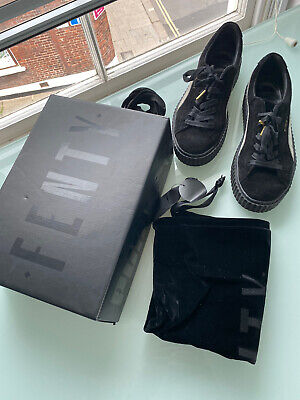 Rihanna Fenty Puma Suede Creepers Size 6 With Bag And Box And Spare Laces.