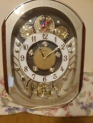 Seiko QXM153BRH Special Collector Edition Melodies in Motion Clock Musical