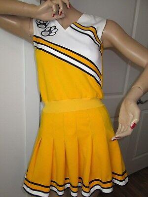 True Vintage Cheerleader Uniform Dress Cheer Outfit Halloween Costume Fun Adult  (Halloween Outfits Original)