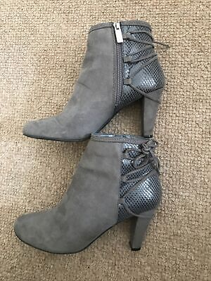 Carvela Ankle Boots Grey Suede Leather Size UK 7