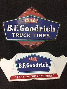 Vintage BF GOODRICH METAL TIRE ADVERTISING