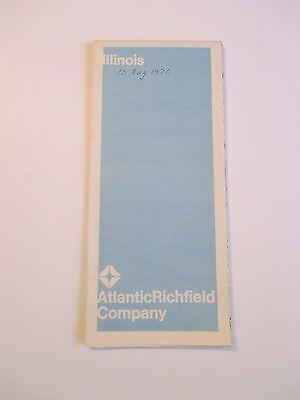 Vintage 1969 ATLANTIC RICHFIELD ILLINOIS Gas Service Station Road Map