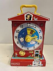Fisher Price Classic Children's Teaching Clock Toy Retro Design Graphics 10 x 6