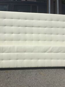 Leather/pleather king bed frame