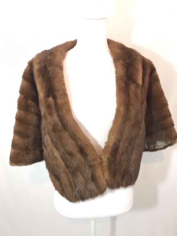 Vintage Fur Mink Cape Coat Stole Birmingham Wedding 50s Costume Holiday Party