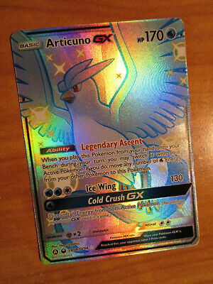 NM FULL ART Pokemon Shiny ARTICUNO GX Card HIDDEN FATES Set SV54/SV94 SM Rare