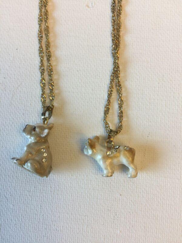 Enamel French Bulldog 2 Design Necklaces