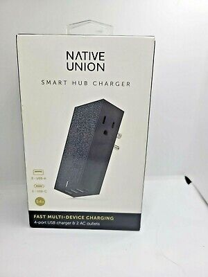 Native Union - Smart Hub Charger - 4 Port USB Wall Adapter - BLUE