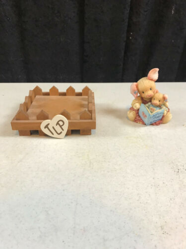 """vintage 1994 Enesco This Little Piggy Mary Rhyner 124575 Figure Stable 4.5"""" x 4"""""""