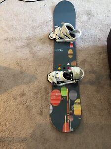 Burton lux snowboard and bindings