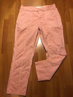 ANTHROPOLOGIE Women's The Wanderer Pants Pink Color Cotton Linen Blend Size 32