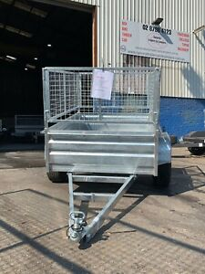 7X5 HIGH SIDE BOX TRAILER GAL WITH 600MM CAGE  Smithfield Parramatta Area Preview