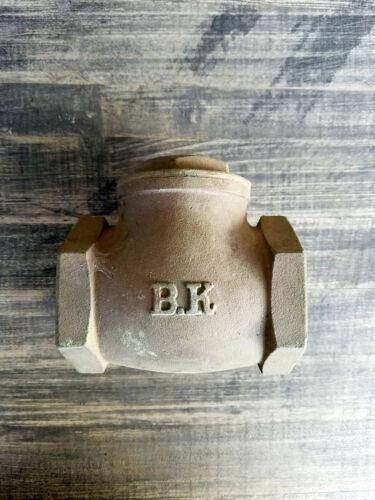 "NEW BK 2"" Brass Single Inline Swing Check Valve"