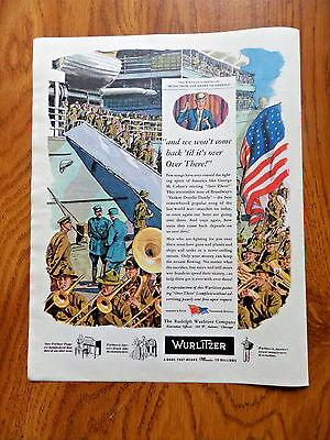 1944 Wurlitzer Music Ad  1st in Series Music From the Heart of America