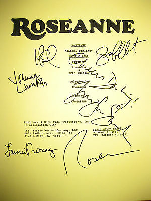 Roseanne Signed TV Script X6 Absolutely Fabulous Goodman Lumley Saunders reprint