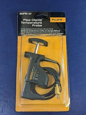 Brand New Fluke 80pk-10 Pipe Clamp Temperature Probe Original Packaging