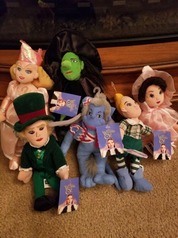 Set of 11 Warner Bros WIZARD of OZ Plush Bean Bag Beanie Dolls w/Tags