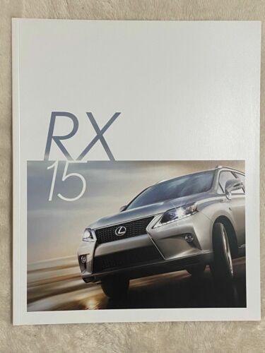 2015 LEXUS RX350 RX350FSport RX450h Original Sales Brochure Catalogue - 26 pages