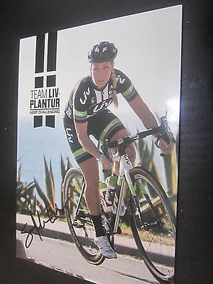 37329 Sara Mustonen Lichan Radsport original signierte Autogrammkarte