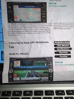Polaris Universal in dash GPS Multimedia unit model No. PID1624