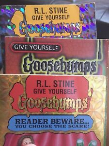 3 Give Yourself Goosebumps Books by R.L. Stine