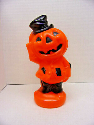 Empire 1969 Halloween Jack o Lantern Scarecrow Plastic Blow Mold Light