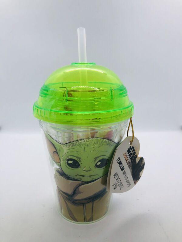 Disney Star Wars Mandalorian Baby Yoda Valentine's Day Tumbler With Lollipops