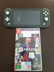 Nintendo Switch Lite (Grey), Charger and FREE GAME (FIFA 21)
