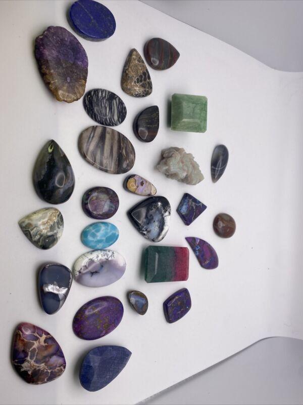 loose mixed natural gem stones lot