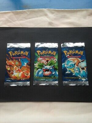 Dutch 1st Edition Base Set booster packs x 3 - opened and empty - NO CARDS