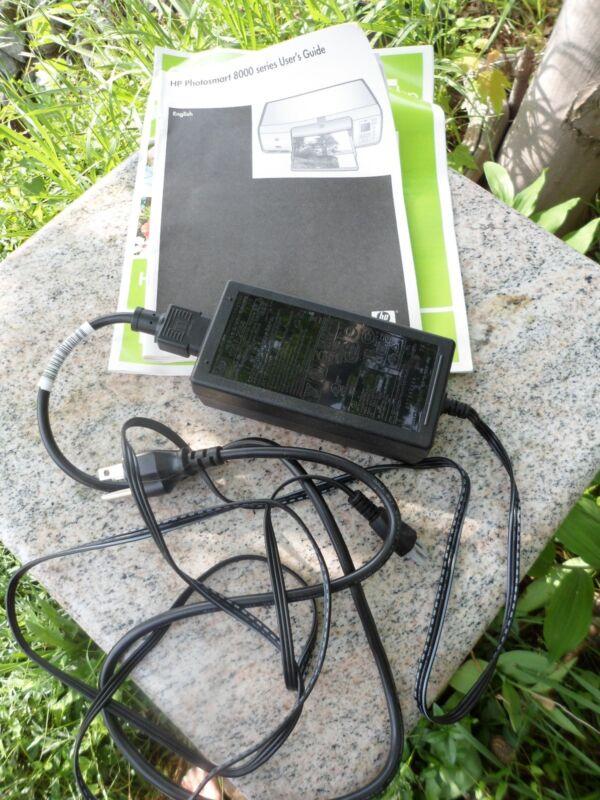 HP Photosmart 8000 Printer AC Power Adapter Cord & User