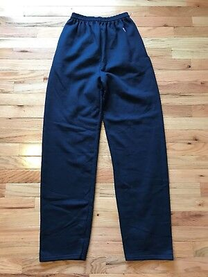 Champion Men's Navy Sweatpants with Open Bottom - Pockets - Interior Drawcord S