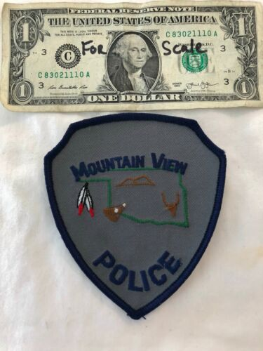 Mountain View Oklahoma Police Patch Un-sewn Cheese cloth Oklahoma Patches