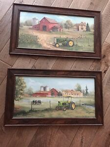 John Deer Farm Art - paintings