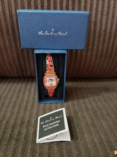 EXTREMELY RARE Danbury Mint Betty Boop Red Jeweled Ladies Wrist Watch NIB