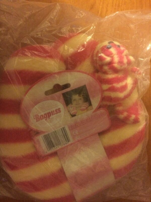 Bagpuss+Childrens+TV+Character+Travel+Neck+Pillow+Very+Rare+%26+Collectible+New