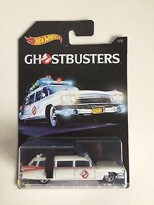 Hot Wheels 1/64 Scale Diecast DWF01 Ecto-1 GHOSTBUSTERS Rare Model Toy Movie Car