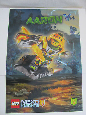 Lego Nexo Knights Aaron poster banner paper sign  68cm x 48cm Double Sided NEW - Lego Banner