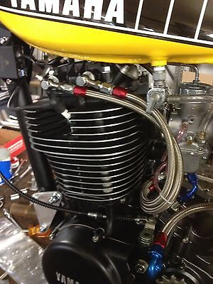 Stainless Braided True Dual Feed Rocker Oil Line Yamaha SR500 XT500 SR400 for sale  Poughkeepsie