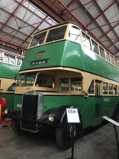 1953 Leyland Double Decker Bus Motorhome Cafe