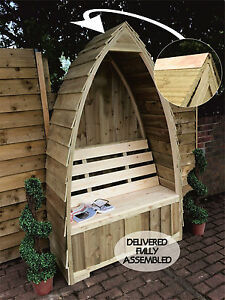 Boat Shaped Arched Garden Seat/Arbour