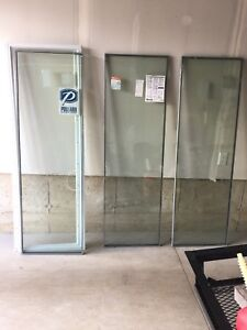 Three Brand New Terrace Door Inserts with White Casings