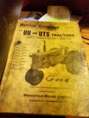 Minneapolis Moline Ub And Uts Parts Manual R-1119b