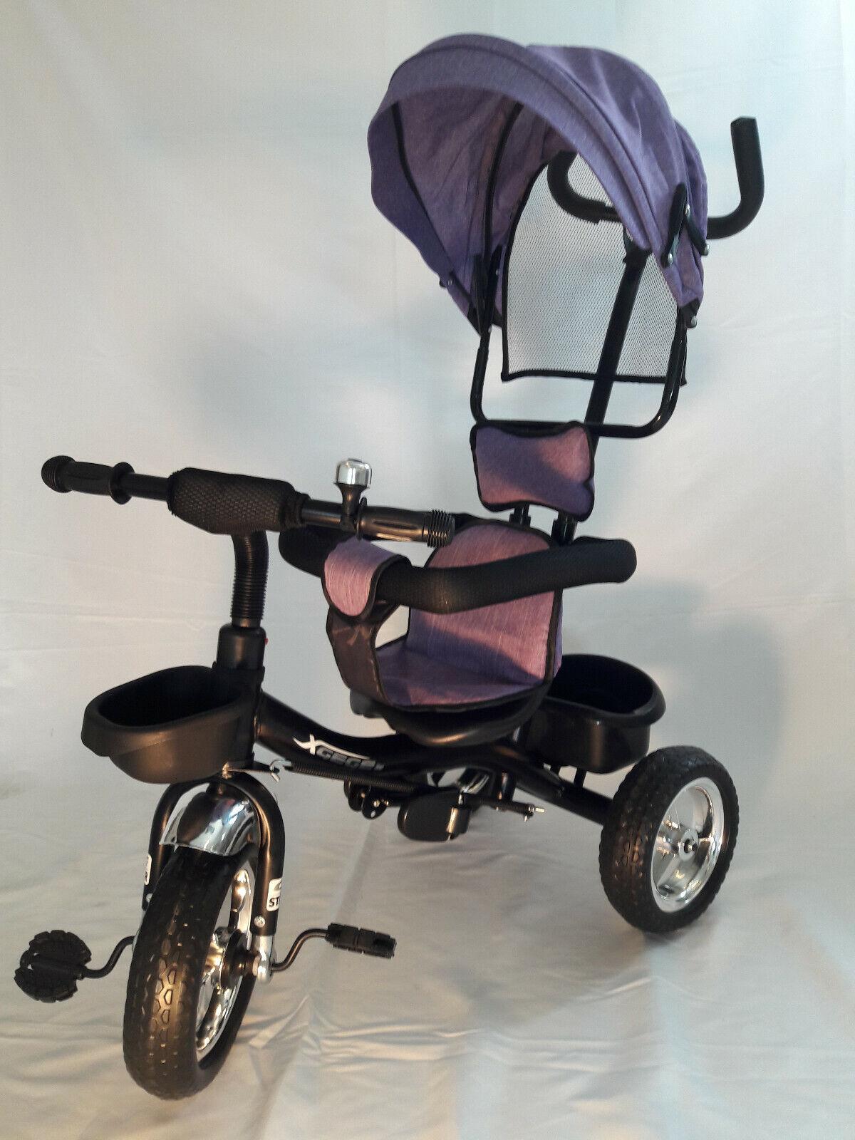 Dreirad für Kinder, Kinderdreirad mit Schubstange Kinderdreirad mit Lenkstange