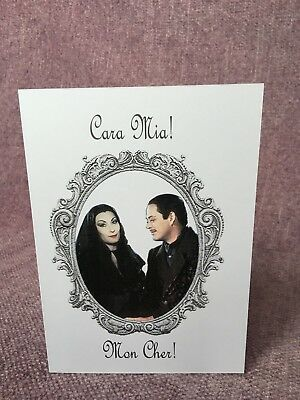 Eternal Love - Handmade Addams Family Morticia and Gomez Greeting - Morticia Addams And Gomez Addams